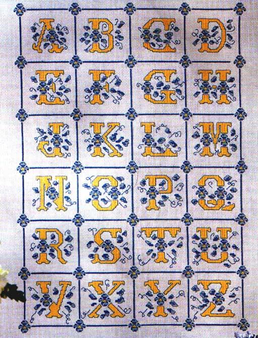 Рхема вышивки Буквы - Схемы